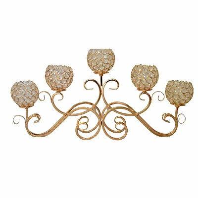 Crystal Candelabra Candle Holder Wedding Centerpiece Wedding Table Stand Gold Candelabrum