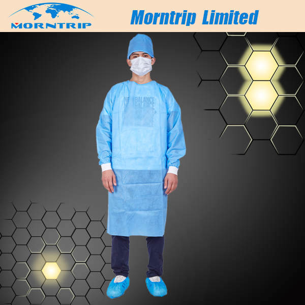 Blue Color Disposable SMS Surgical Gown