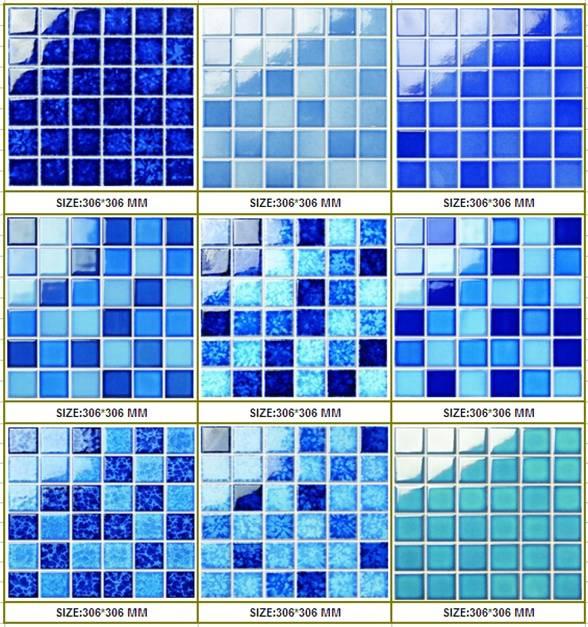 48x48mm Crystallized glazed swimming pool mosaics