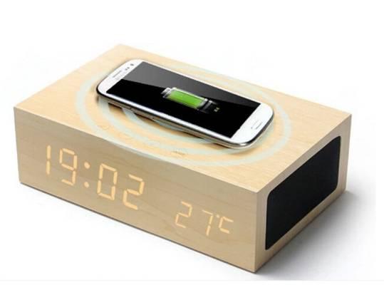 Home Decor Desk Table Magic LED Wood Clock