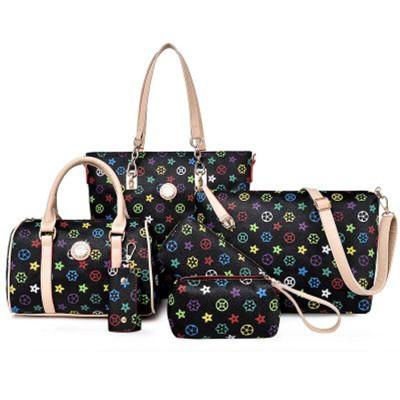 2018 New arrivals 6 pcs in 1 set handbags women handbag sets