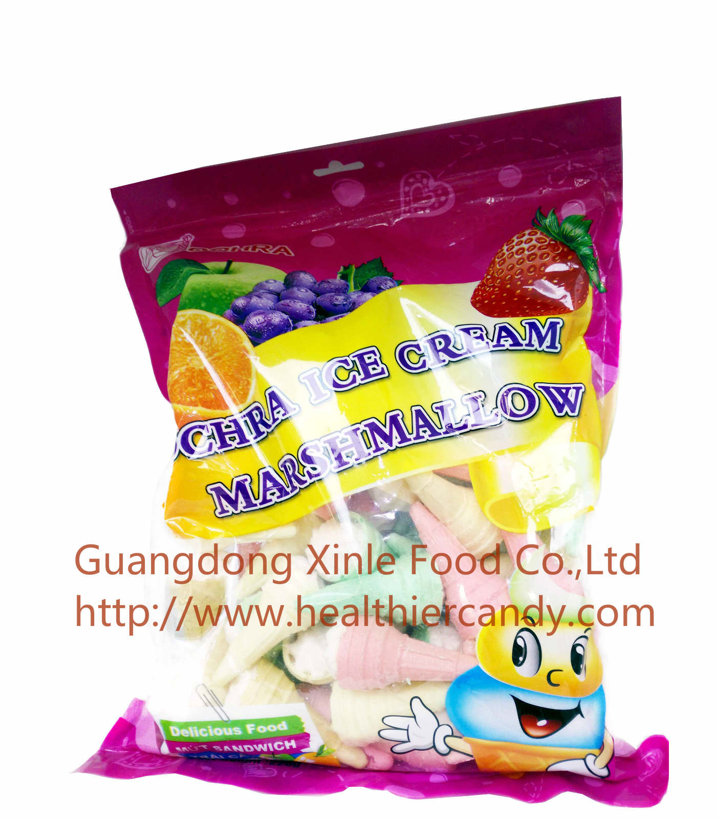 Promotional Snack Ice Cream Marshmallow In Bag Nice Taste and Sweet Kids' Love