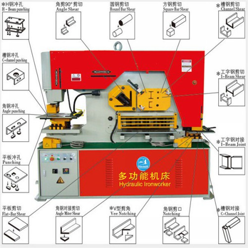 hydraulic iron worker for cutting and punching