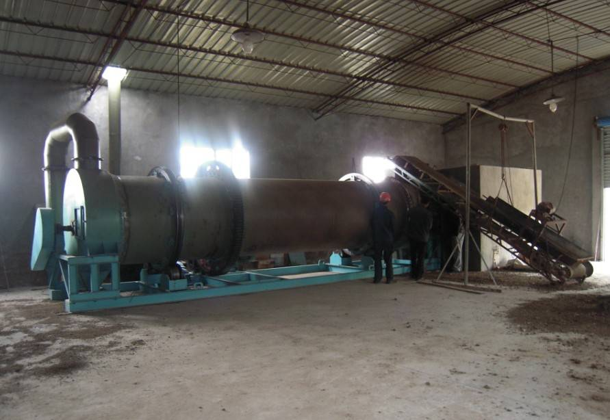 Chicken manure rotary dryer