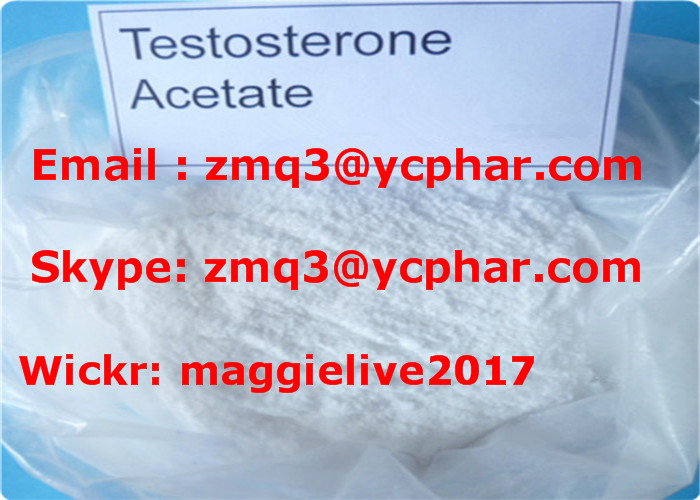 China Manufacturer Raw Test e/Testosterone Acetate powder Sweden UK