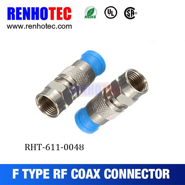 Hot Sale F Female Quick Crimp Cable RF Electrical Connectors for RG6 Connector