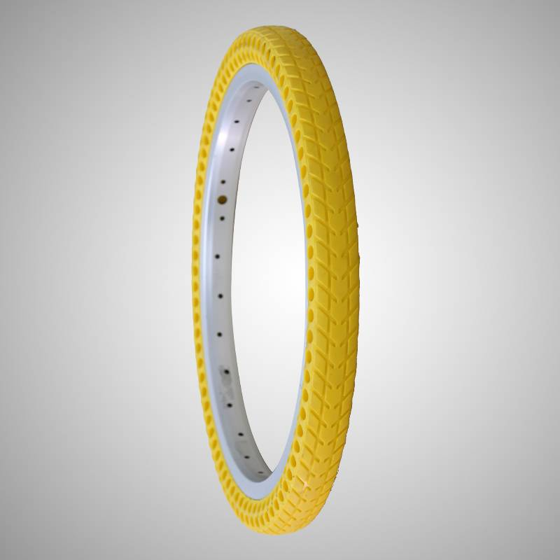 161-3/8 inch solid air free bicycle tire