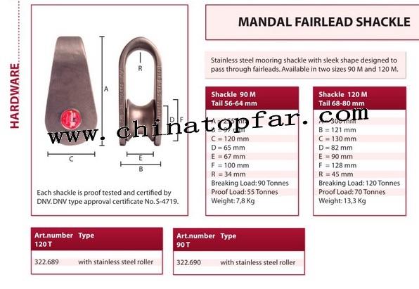 Marine Mooring Mandal fairlead shackle