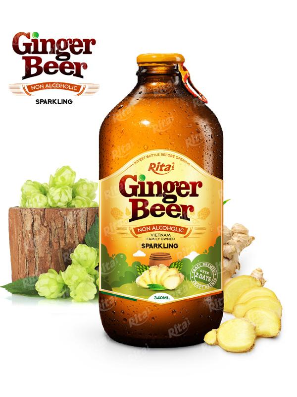 Ginger Beer | fruit drink recipes | fruit juice brands 340ml Glass Bottle