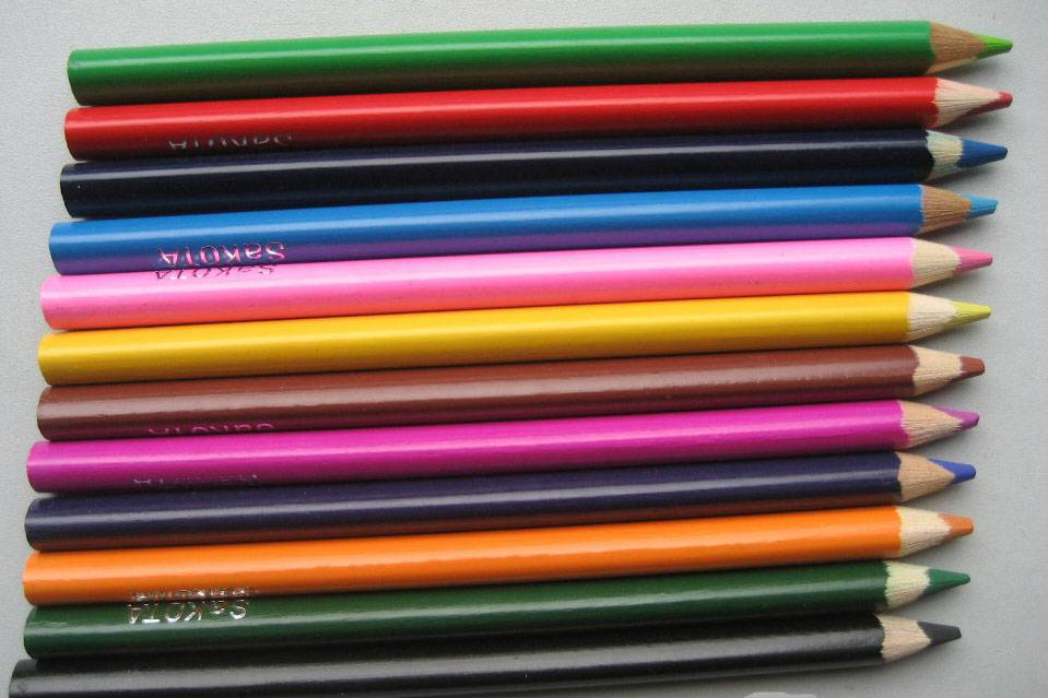 hot sale round barrel colored pencil