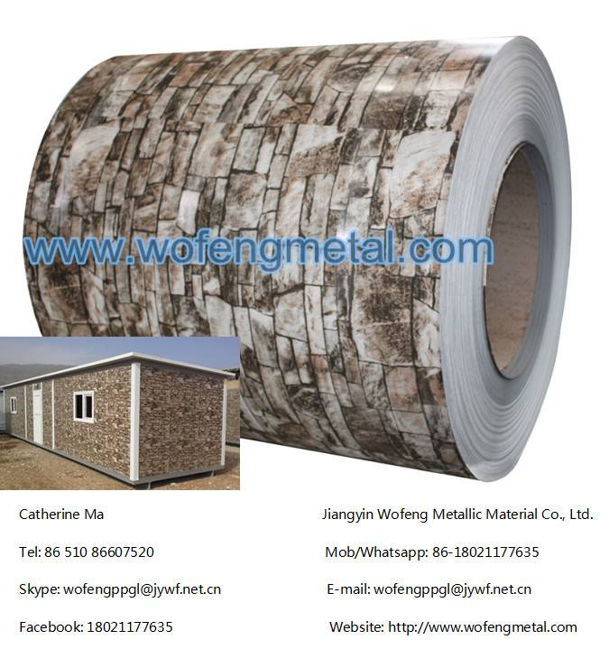 China supplier brick pattern ppgi roofing sheet prepainted galvanized steel coil/sheet