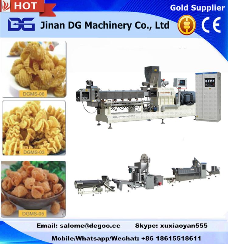 Fried corn cone/bugle snack pellets fryum making machine processing line