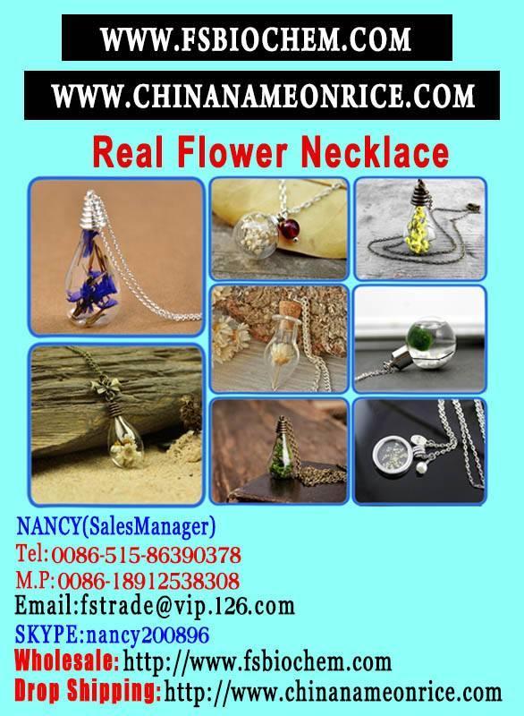 Real Flower Botanical Necklace