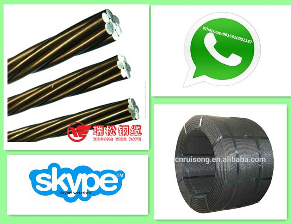 Mining tunnel supporting building material steel strands