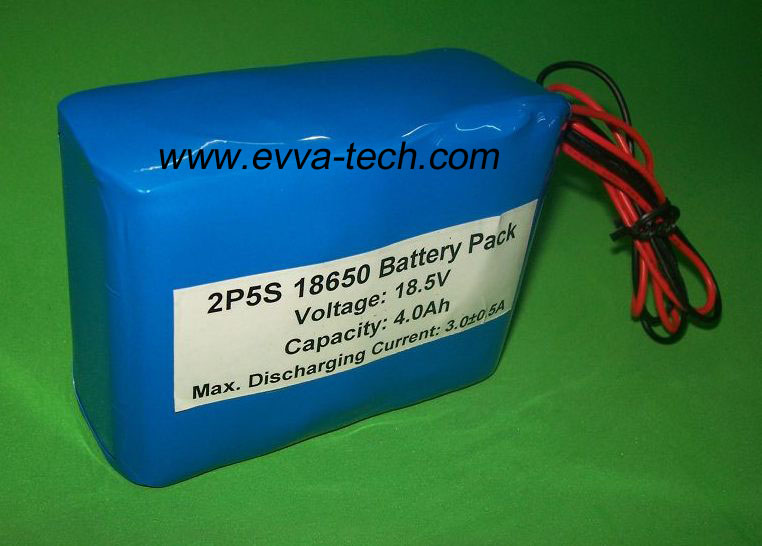 Battery Pack with 18650 18.5V 4400mAh 5S2P