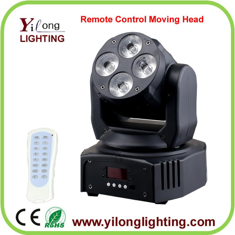 mini 4X18W RGABWUV moving head lighting,led stage lighting,moving head wash