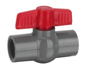 """HJ"" PVC plastic Ball Valve Socket or Thread end connector dn 50"