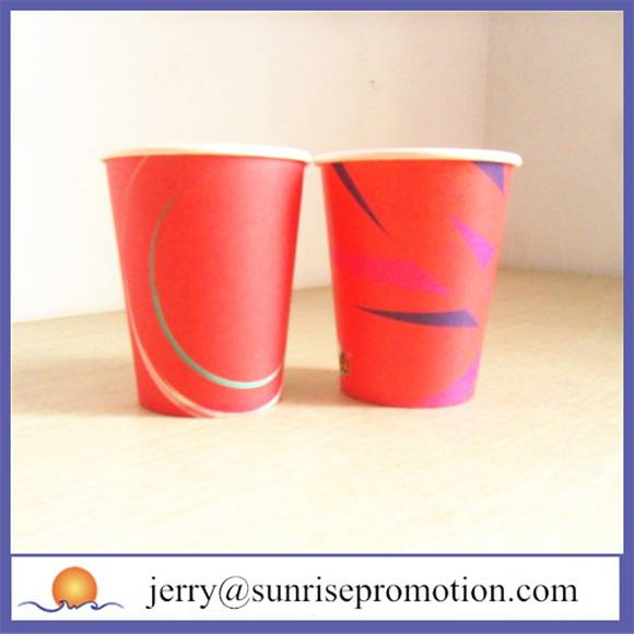 Single wall colour 12oz disposable cup
