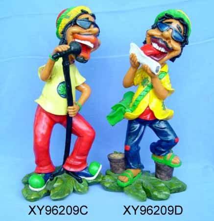 Polyresin Jamaican figurine