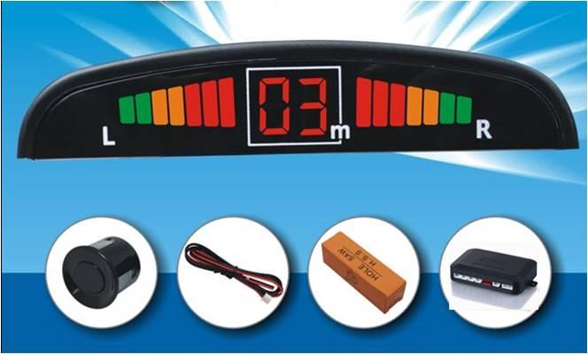 Car LED Parking Sensor 4 Sensors Kit Display Parking Sensors for Cars Reversing Backup Radar Detecto