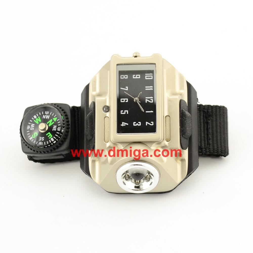Led light flashlight led watch torch light mulit-function clock wrist watch