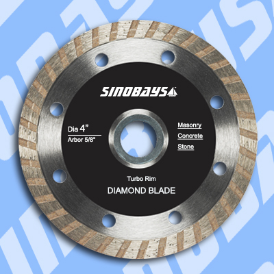 Turbo rim diamond abrasive blade for stone/concrete/brick