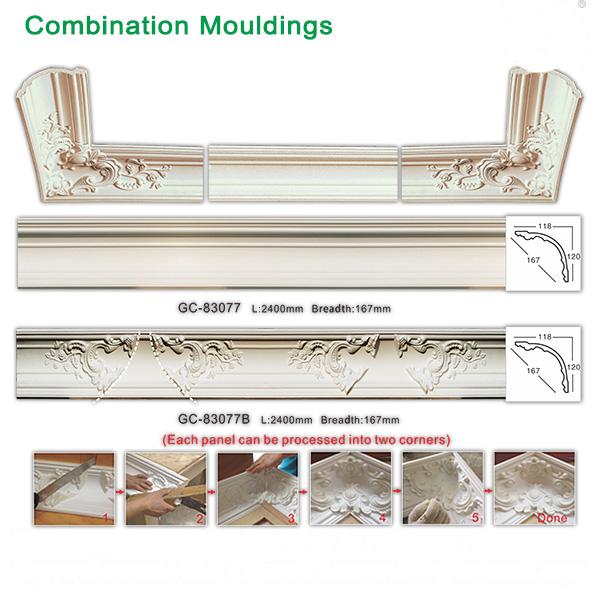 PU/ polyurethane ceiling corner design mouldings