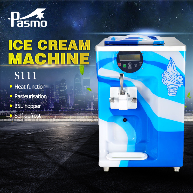Pasmo Mini Counter Top Soft Ice Cream Machine S111 with pump