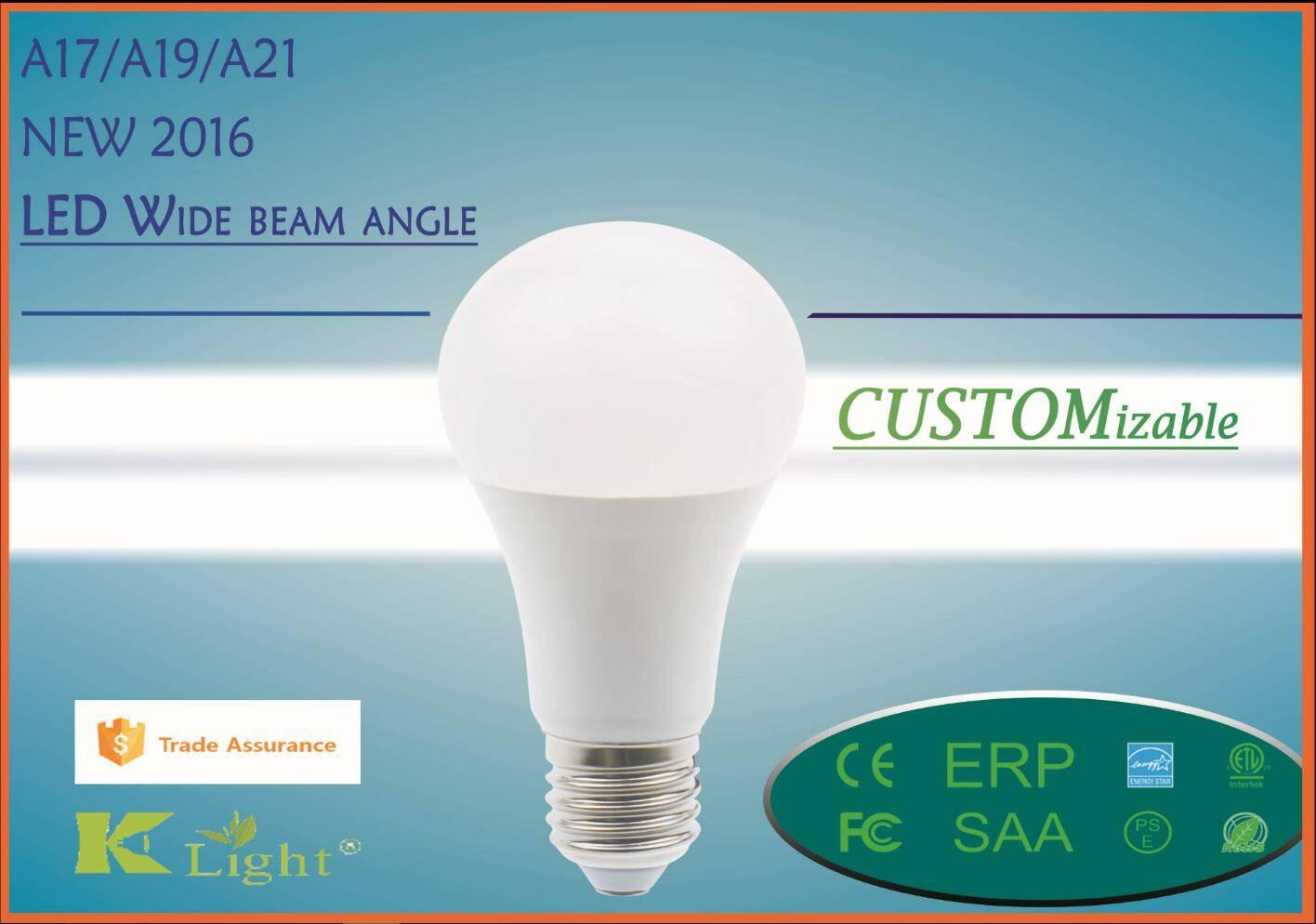2016 New Plastic,Aluminum clad LED Bulb A60 A19 bulb E26,E27, B22d