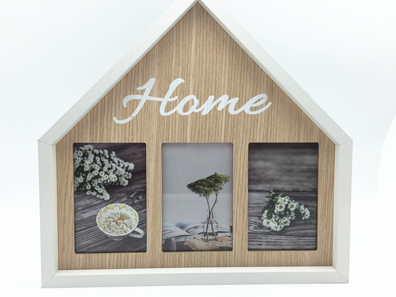 """HOME"" new arrival collage frame, for wall deco and tabletop use"
