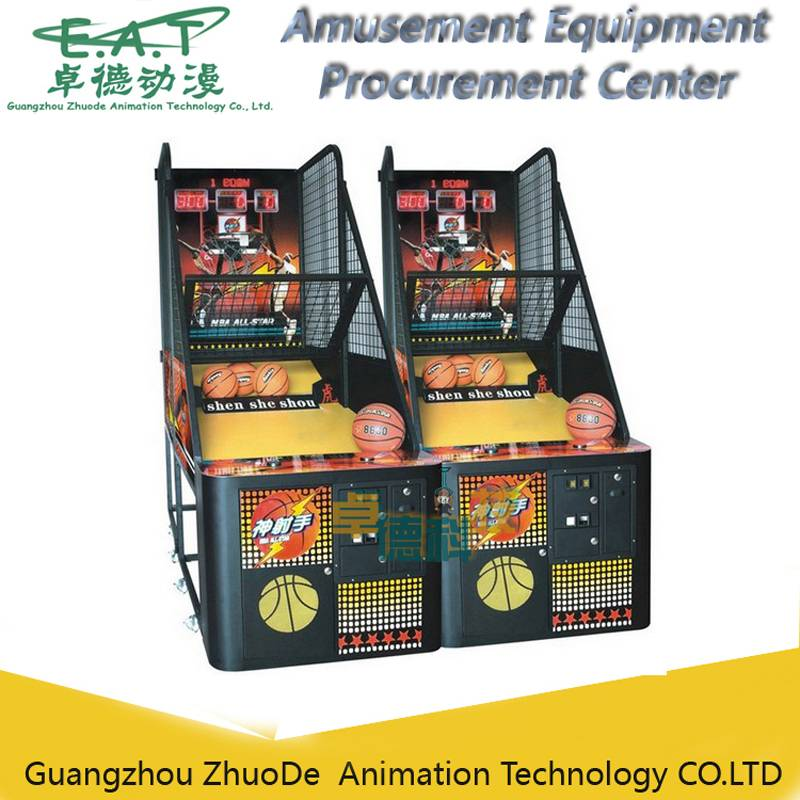 Street Basketball Machine with Coin Operated, Crazy Shoot Basket, Amusement Game Equipment