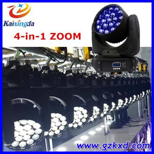 Professional stage lighting 19pcs*12w 4 in 1 rgbw led moving head light