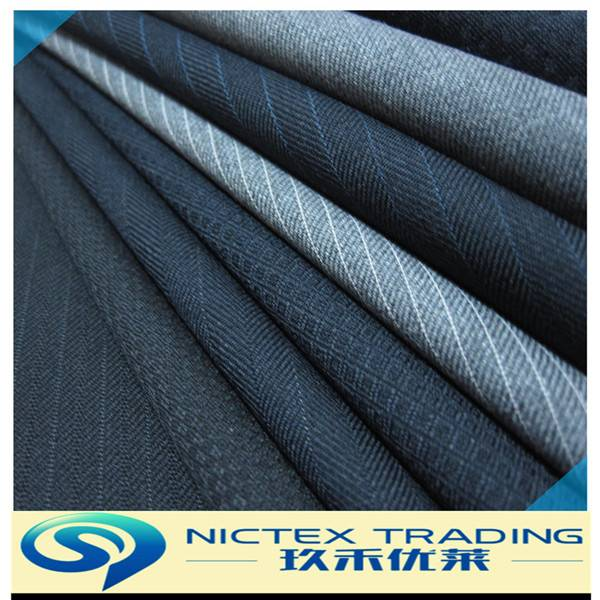 poly wool suiting fabric for men