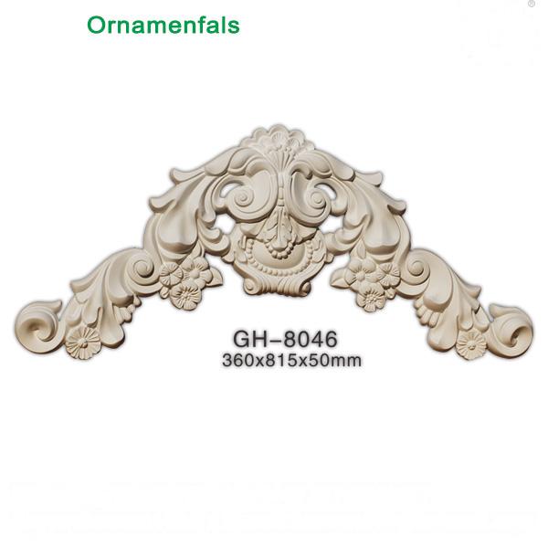 Elegant polyurethane wall ornaments bedroom decoration
