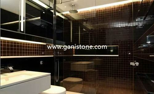 Cat Eye Mosaic Bathroom Tile