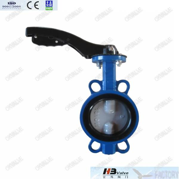 Wafer /Lug Double Half Shaft Butterfly Valve Without Pin