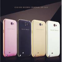 For Samsung Note 2! Metal Aluminum +Slim Back Case For Samsung Galaxy Note2 N7100 Luxury Hybrid Hard
