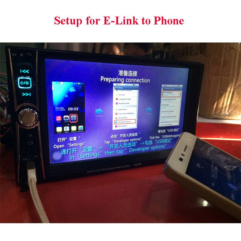 2 Din Car Video Player 7 inch Touch Screen Radio Audio Stereo MP5 Player Support BT AUX FM USB SD MM