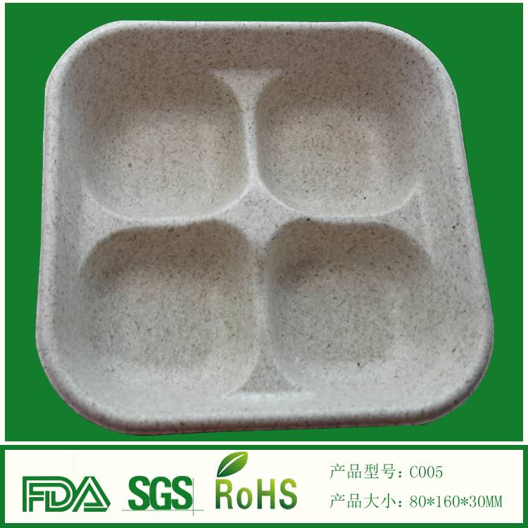 Biodegradable customized mold pulp food tray
