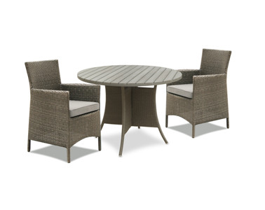 Outdoor garden furniture KD dining table rattan wcker chairs
