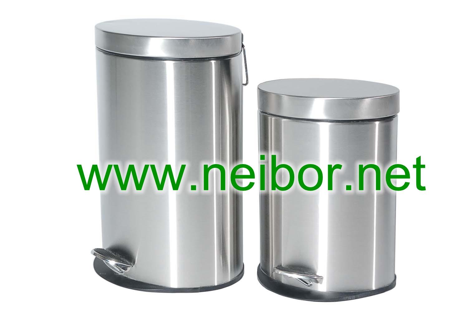 oval pedal bins,stainless steel pedal bins,waste bins