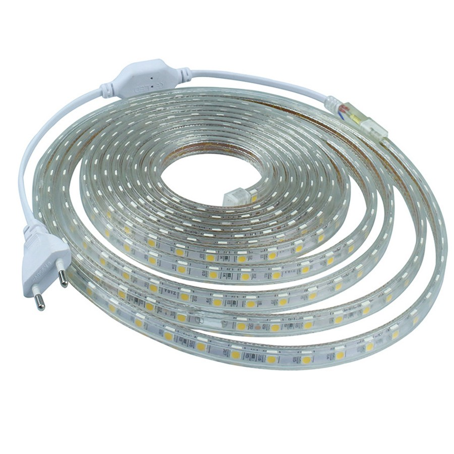 super bright IP65 Flexible LED Strip Lights smd 5050 warm white 1M 5M 10M 50M AC110v-120v LED Strip