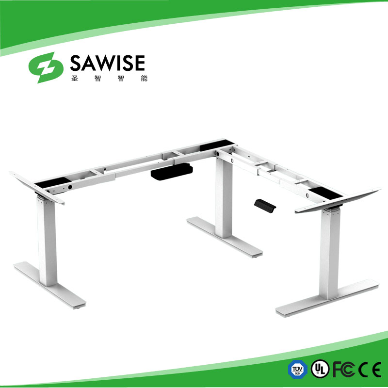 Electric height adjustable office desk