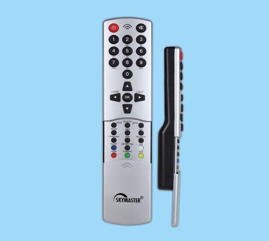 32keys DVB remote control with pushing shell