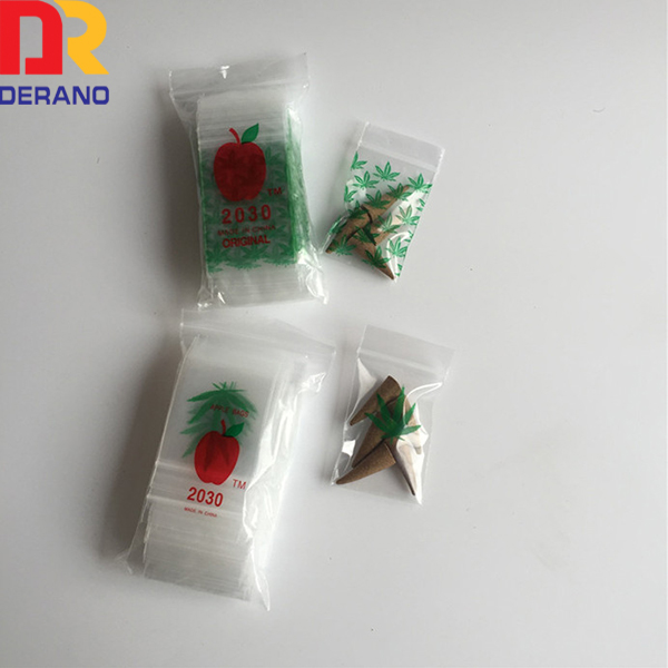2mil plastic ldpe 2030 ziplock baggies/mini apple baggies
