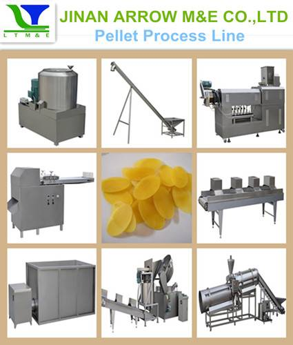 Screw/Pellet/Chips Extruding&Frying Process Line
