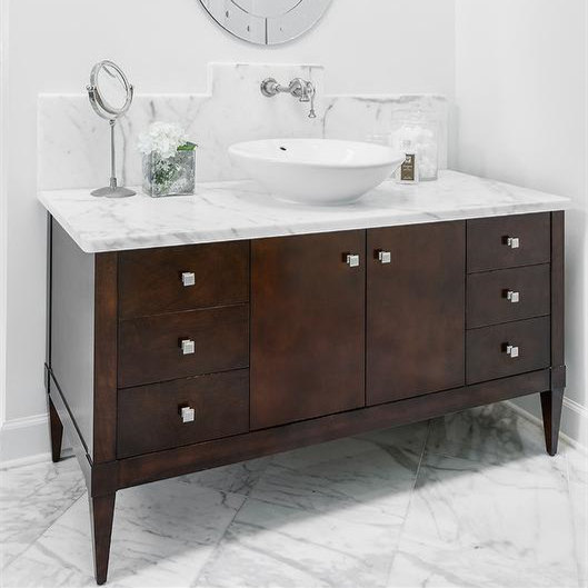 bathroom vanities cabinet solid wood marble countertops north american style china supplier