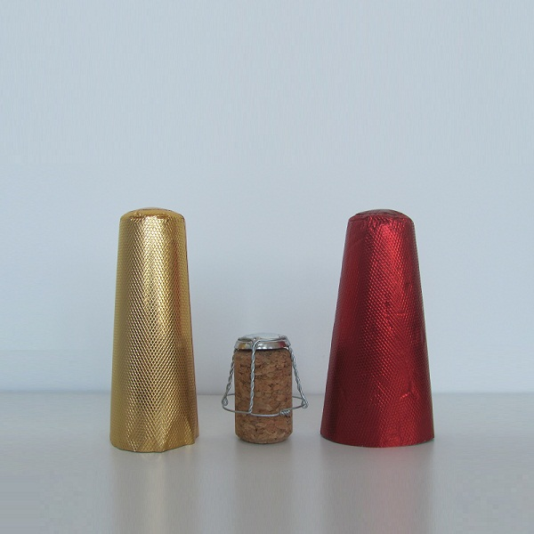 Aluminum caps for champagne bottle package