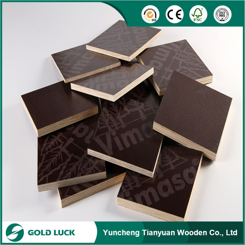 Black Shuttering Plywood/Brown Film Faced Plywood for Concrete Formwork