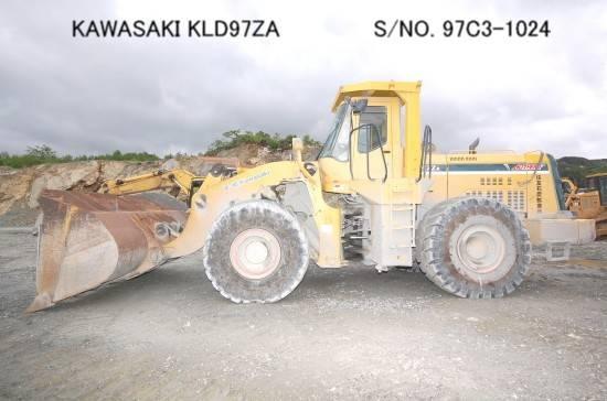 "USED ""KAWASAKI"" MODEL KLD97ZA WHEEL LOADER S/NO. 97C3-1024 (MADE IN 2000) BUCKET CAPACITY 5M3."